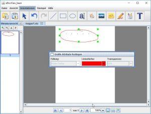 Bearbeiten von bereits existierenden Markups durch einfaches Verschieben oder Doppelklicken.