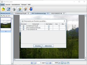 Print the current document or all opened documents simultaneously with intuitive menu navigation.